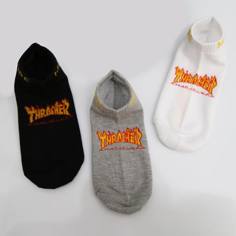 Neue Mode Straße Skateboard Männer Brief Keine Show Socken Stil Lässig Einfache Baumwolle Harajuku Unisex Boot Socken