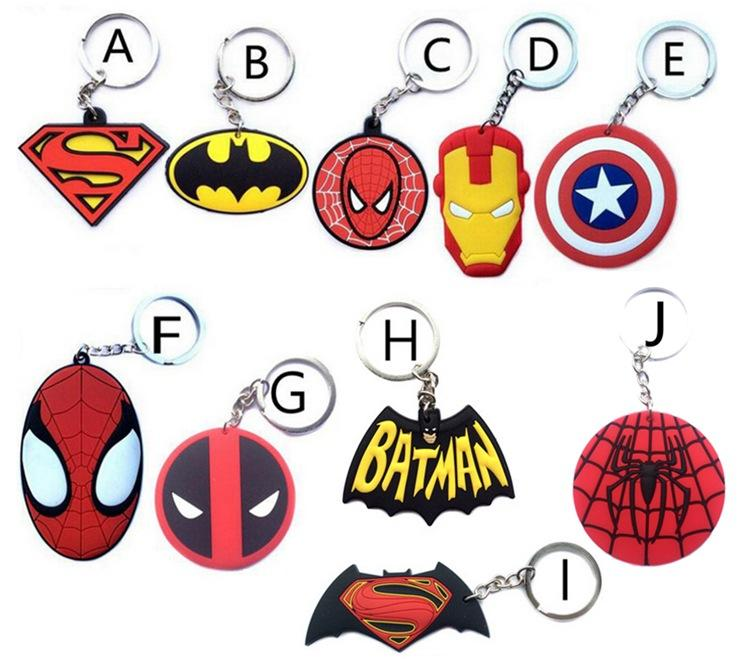 Avengers Keychain Thor Captain America Hulk SpiderMan Deadpool ... c1ee216727