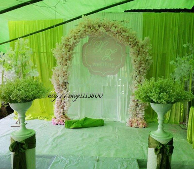 Online Cheap Artificial Cherry Blossom DIY Simulation Wedding Arch ...