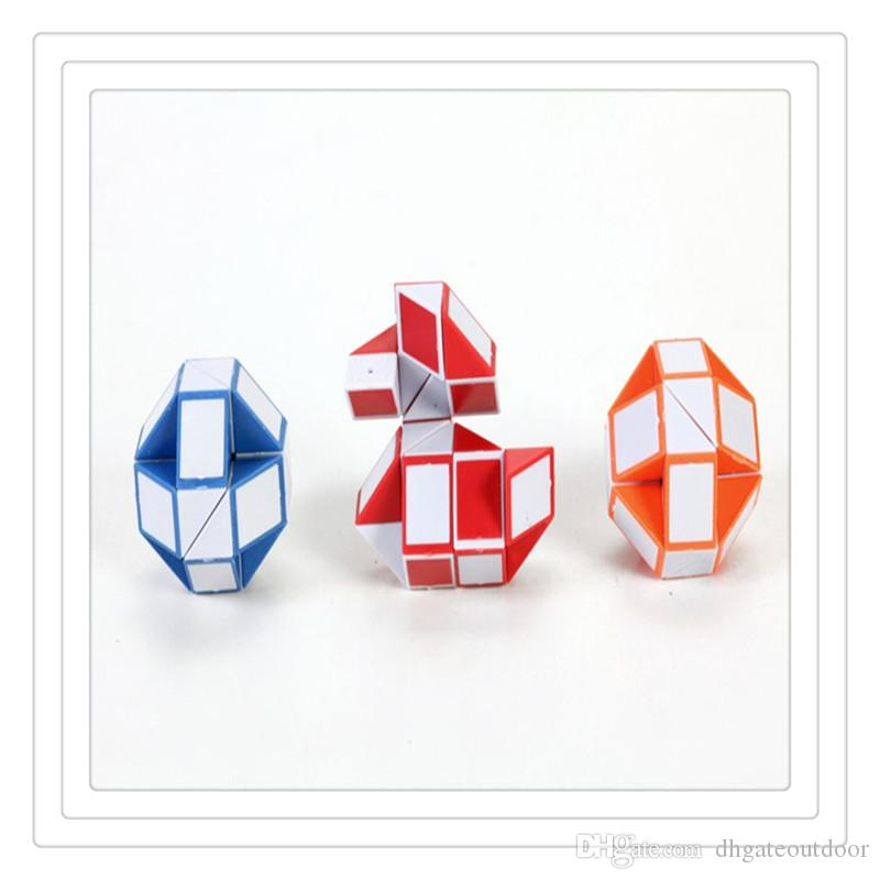 Wholesale Magic Cube Creative 3D Snake Shape Puzzles Game Toys 3D Twist Puzzle Toys Gift Random Intelligence Toys Games Free DHL