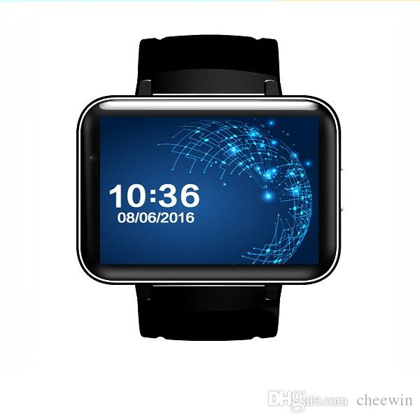 Android 4.4 Smart Watch Phone MTK6572 Quad Core DM98 Bluetooth Smartwatch 3G SIM Wifi GPS Sports Watches WCDMA Smartphone