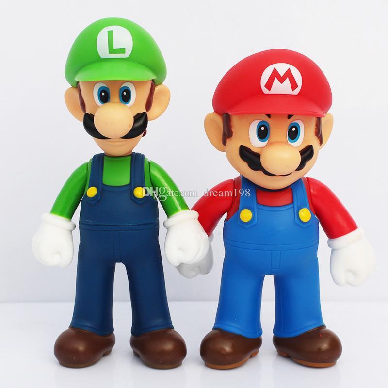 고품질 PVC 월 브라더스 루이지 Youshi 마리오 액션 / 부지를 선물 장난감 12cm의 피규어