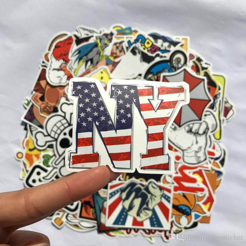 High Quality Random Pattern Car Styling Sticker Bomb Skateboard Stickers Doodle Graffiti Snowboard Bike Motorcycle Accessories Luggage Bags