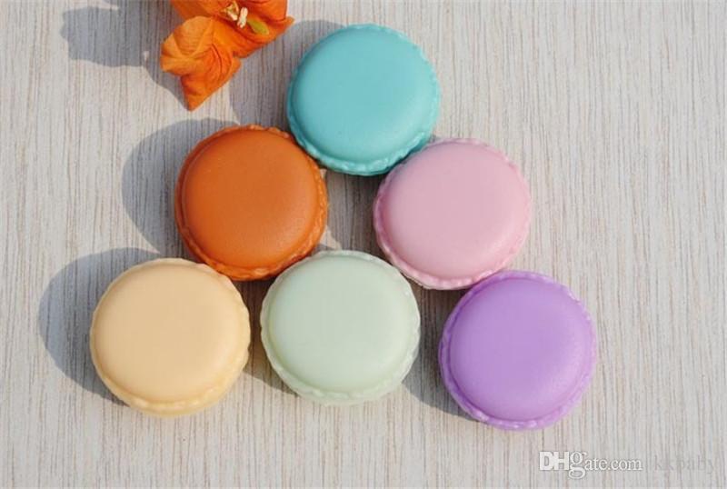 Color caramelo Macaron Mini caja de almacenamiento de la joyería cosmética caja de la joyería Caja de la píldora caja de regalo de cumpleaños Macaron caja de la joyería