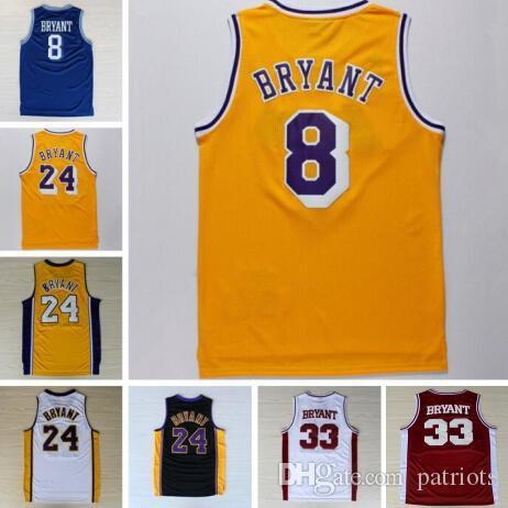 b81c2a860af ... Cheap 24 Kobe Bryant Jersey 8 Throwback High School Lower Merion 33  Bryant Retro Shirt Uniform ...
