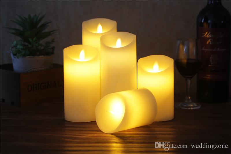Flickering Flameless LED Candle Light with Controller For Party Wedding Dinner Valentine's Day Christmas Eve For