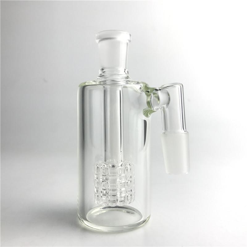 Catcher di vetro di frassino 14mm 18mm Mini Bong di vetro da 4,5 pollici Acchiappasassi di spessore Pyrex Clear Bubbler Ashcatcher 45 90 gradi