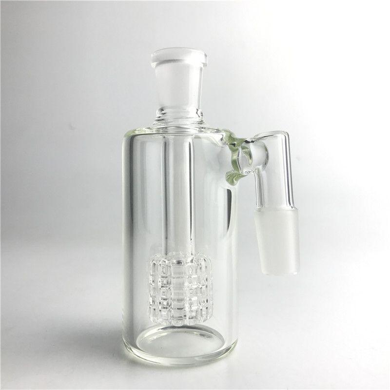 Glass Bong Ash Catchers 14mm Thick Pyrex Glass Bubbler Ash Catcher 45 Degree