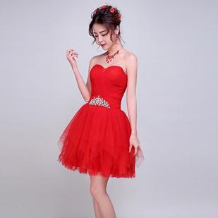 Revealing Short Strapless Dress