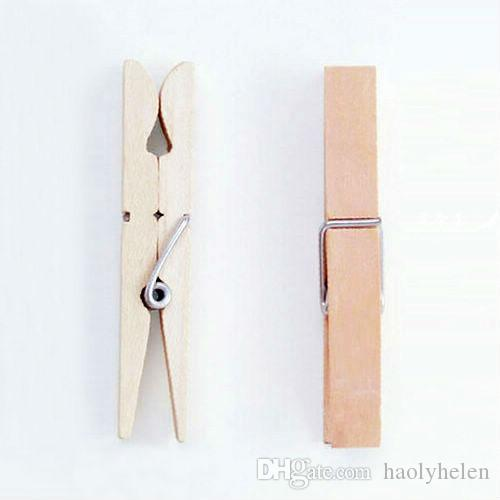 Large Natural Wooden Clothespins Clothes Pins 7.2*1cm Wood Spring Clip Pegs For Photo Paper Craft Toys