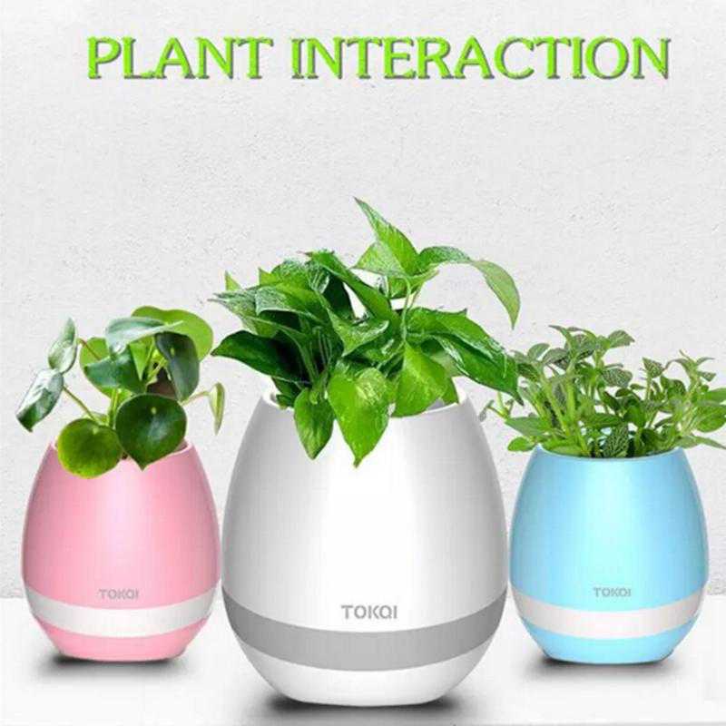 Creative Music Vase Smart Music Flowerpot Wireless Bluetooth Speaker K3 Intelligent Plant Piano Music with Colorful LED Night Light