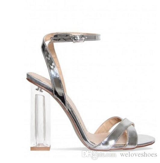 2017 мода женщины Гладиатор сандалии сексуальная партия обувь ясно пятки сандалии лодыжки ремень высокие каблуки Гладиатор сандалии свадебные туфли дамы