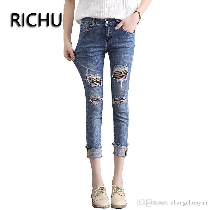 d24f880f7e6 2019 2018 New Arrivals Spring And Summer Skinny Denim Jeans Carpis Elastic  Trousers Female Bottom Clothes From Zhangchunyan
