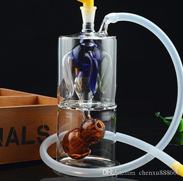 Yeni dört pençe kabak cam nargile, göndermek pot aksesuarları, cam bong, cam nargile, sigara, renk tarzı rastgele teslimat