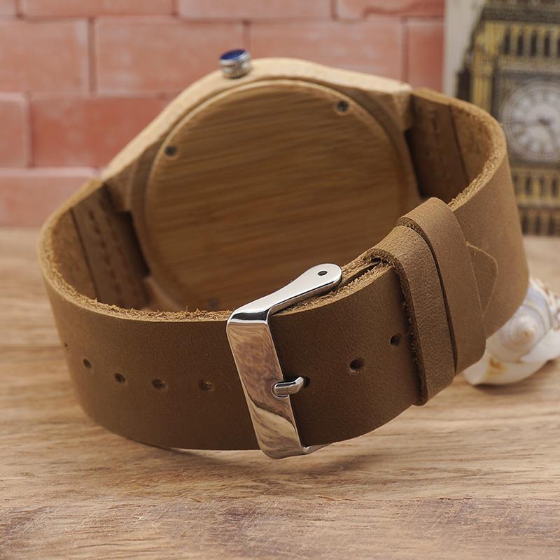 BOBO BIRD al por mayor relojes de garantía de calidad personalizados mens Bamboo Wood relojes de pulsera fabricante en estuche de regalo