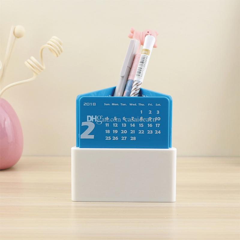 2018 Creative Triangle Pen Holder Desk Calendar Plastic Stationery Storage  Box Novelty Office Corporation Promotion Advertising Gifts From Casaideacn,  ...