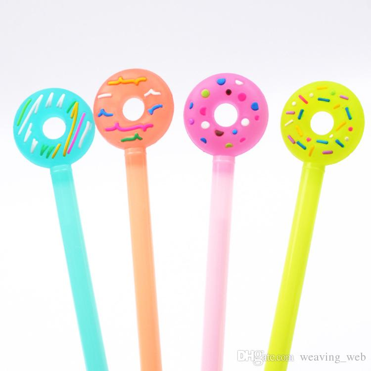 DHL Cartoon Donuts Gel Ink Pen Promotional Gift for Kids Office Stationery School Writing Pens Hot Sale