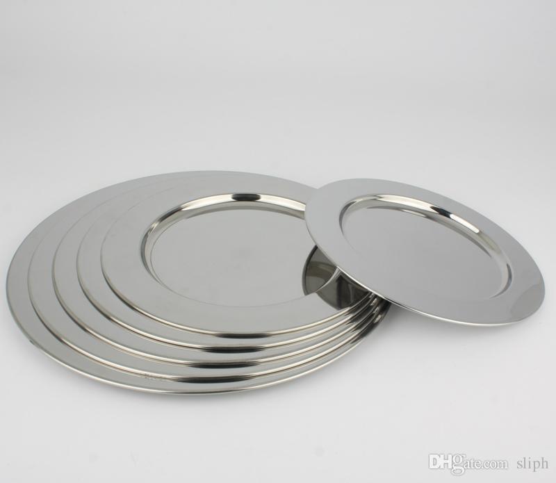 2018 Stainless Steel Dinnerware Dinner Plate Round Broadside Multipurpose Soup Dish Flat Plate Tableware Vegetables Fruit Dish From Sliph $37.81 | Dhgate. & 2018 Stainless Steel Dinnerware Dinner Plate Round Broadside ...