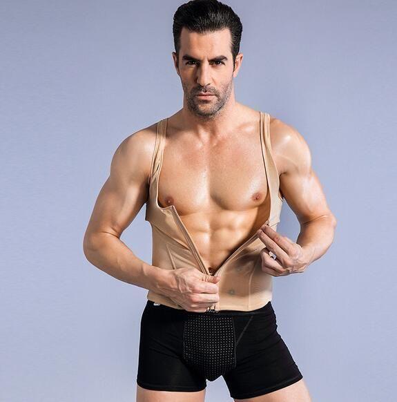 Plus حجم 6xl الأزياء الجلد الخصر البطن الرجال bodybuliding سترة سستة سترة المشكل مشد cincher الخصر التدريب الرجال صائغي الجسم