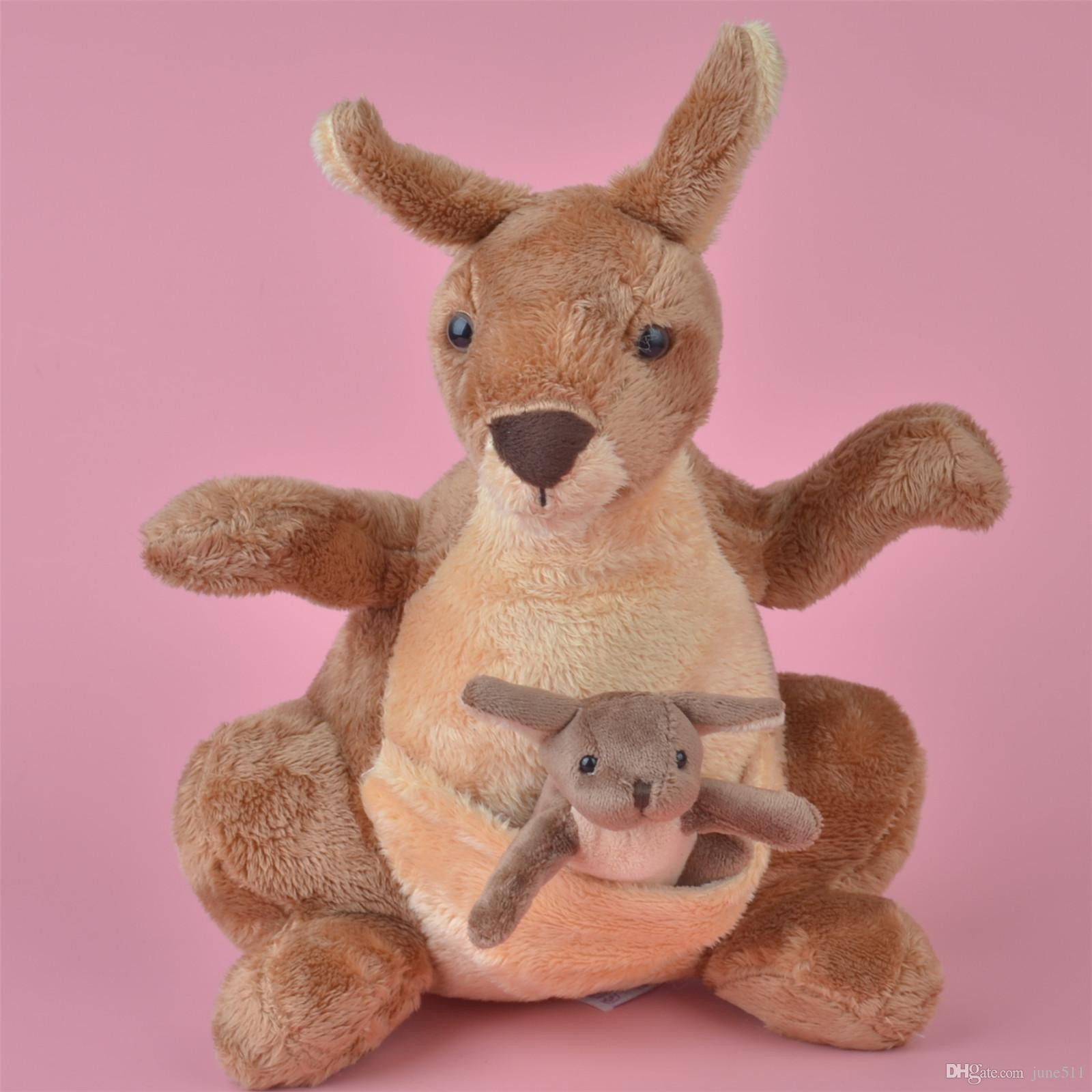 2019 40cm Brand New Cute Soft Prairie Animals Kangaroo Stuffed Plush