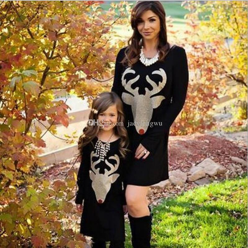 Mother And Daughter Clothes Family Matching Christmas Dresses For Girl Skirt Baby Outfit Girls Fall Fashion Children Costume Qzzw077 Matching Outfits Family ...  sc 1 st  DHgate.com & Mother And Daughter Clothes Family Matching Christmas Dresses For ...