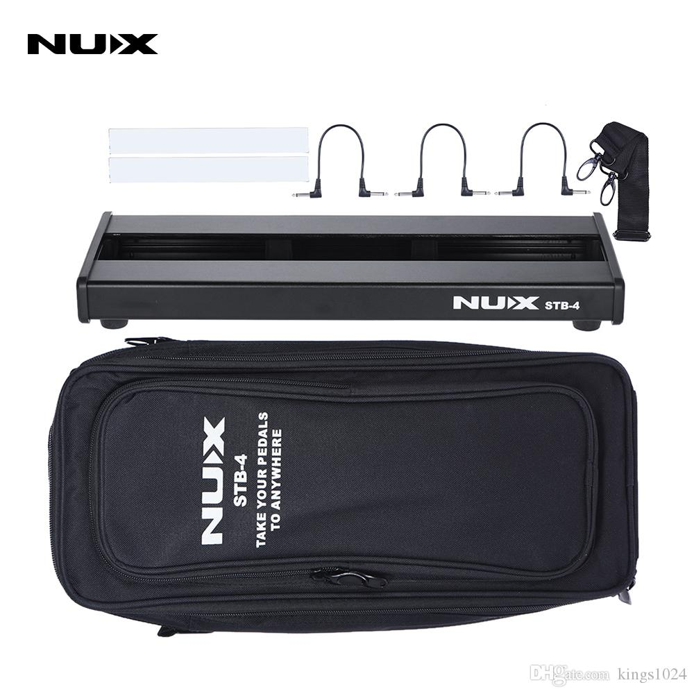 nux stb 4 aluminum alloy guitar effect pedal board with portable rh dhgate com Pedalboard Designs Trailer Trash Pedalboards