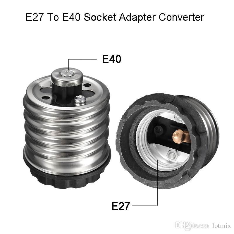 قاعدة مصباح e27 إلى e40 led ضوء لمبات محول محول المقبس مصباح قاعدة حامل ل led الهالوجين خيوط cfl ضوء 16a 220 فولت