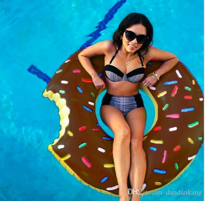 Water sport floating tubes kids Donut Swimming ring beach swim pool toy for baby inflatable raft riding tubes