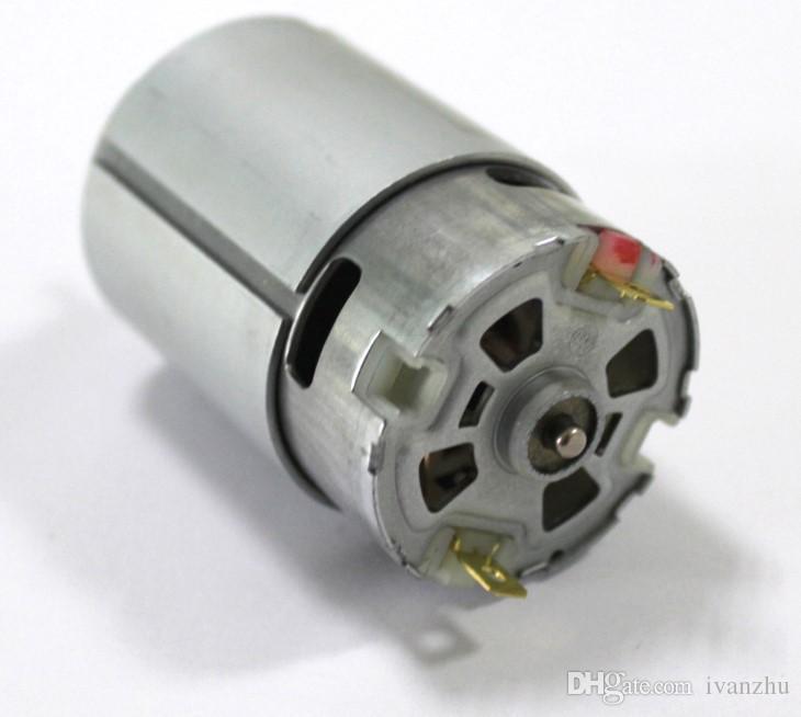 Standart mil 550 dc motor, 12 V mikro dc motor, yüksek hız, 3.175 çaplı şaft, DIY Delme motoru