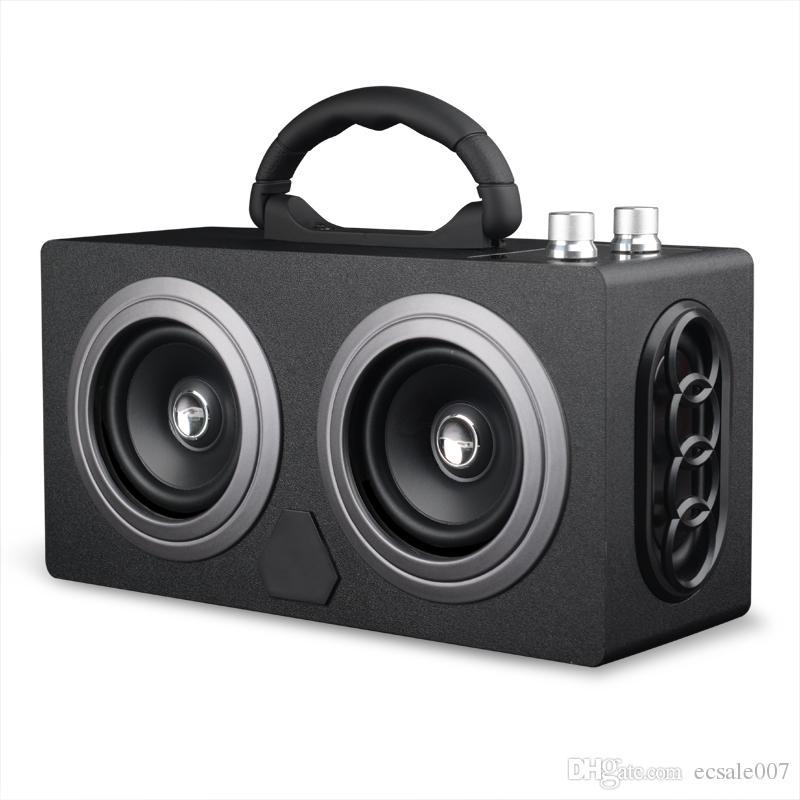 20W Speaker Portable Wooden Bluetooth Speaker Dancing Loudspeaker Outdoor Wireless Stereo Super Bass Subwooofer With FM Radio
