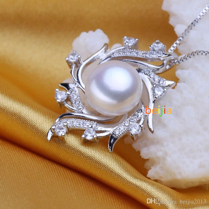 Collar colgante bohemio Collar de jaula de perlas Moda Retro Mujeres Natural FS51W