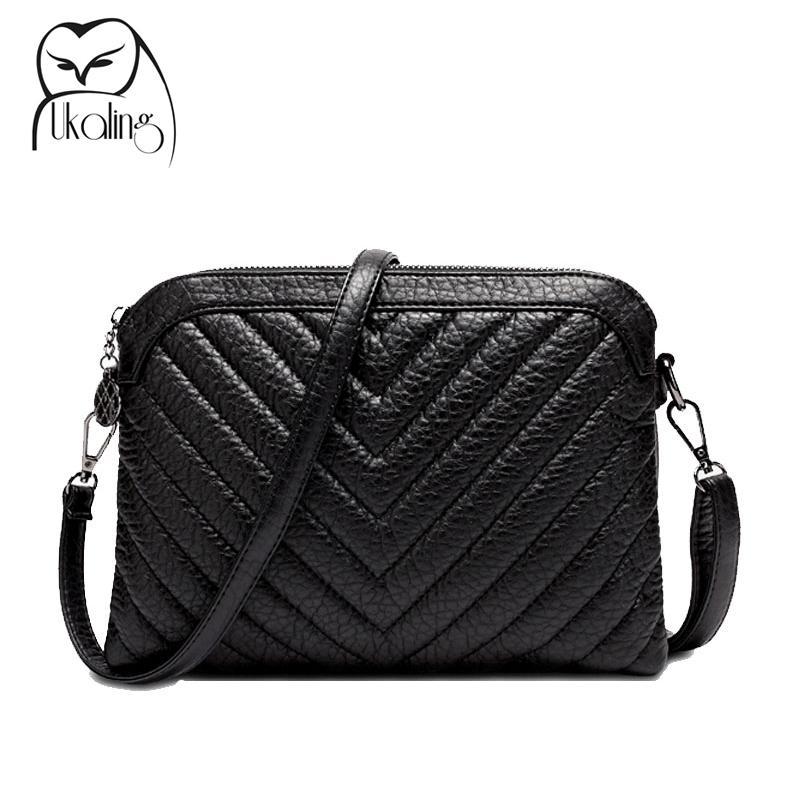 ab3a8c008a Wholesale Luxury Soft PU Leather Women Messenger Bags Crossbody Bag Black  Clutch Purse And Handbag Long Strap Sac A Main Dollar Price Leather Purses  Cheap ...