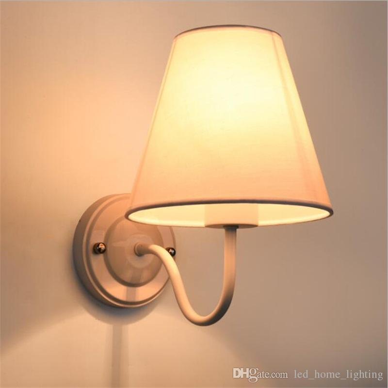 Best Modern Led Fabric + Iron Wall Lamp Decoration Lighting Bedroom ...