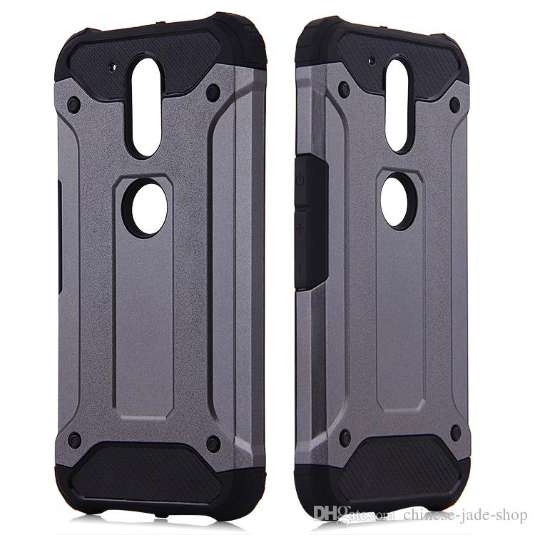 POUR MOTOROLA MOTO G5 G5 PLUS MOTO G6 G6 PLUS Galaxy J2 PRIME J3 PRIME 10 couleur Armure Hybrid Defender Case TPU + PC Housse antichoc
