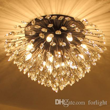 Crystal chandeliers high class k9 crystal led ceiling american crystal chandeliers high class k9 crystal led ceiling american unique chandeliers lighting ceiling lamps bedroom living room forlight metal chandelier aloadofball Image collections