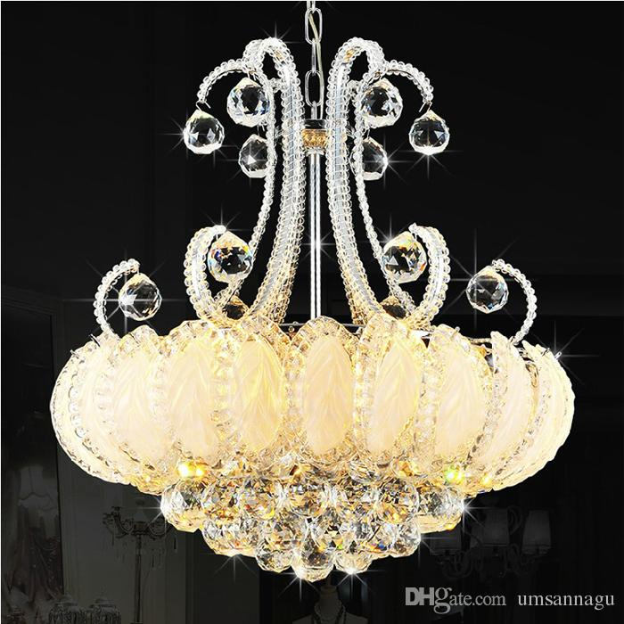 Modern Crystal Chandeliers Lighting Silver Gold Chandelier Lights
