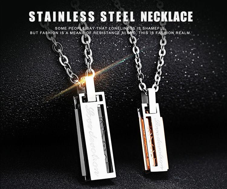 presente de natal nova marca de aço inoxidável colar presente do namorado namorada apresenta colares pingentes com acessórios de moda cadeia