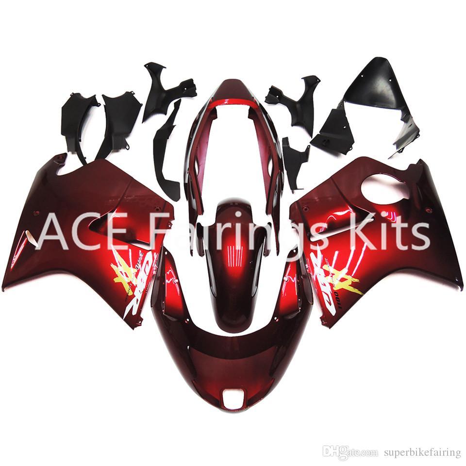 3 regalos gratis para Honda CBR1100XX CBR1100 XX 97 98 99 00 01 02 03 04 06 06 07 1997 2000 2005 2007 ABS Motocicleta Carenado Rojo AH3