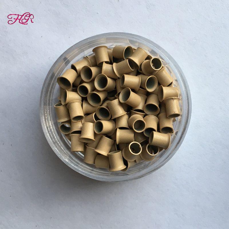 Évasé en cuivre micro anneau 3.2x2.8x4.0mm vente chaude Easilylocks Mini perles pour je pointe les cheveux