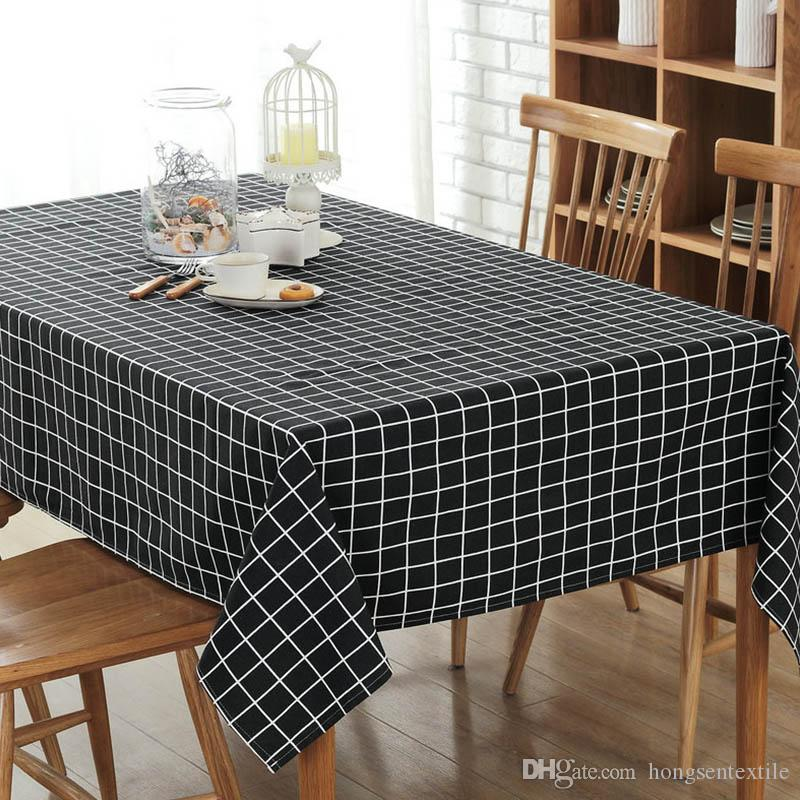 New Europe America Style Plaid Tablecloth Stripe Table Cover - Conference table covers