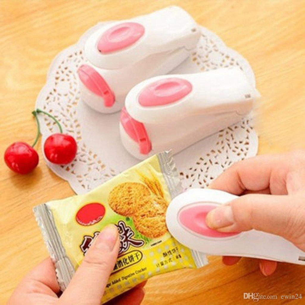 Magnetische Unterseite bewegliche Miniheißsiegelmaschine Impulse Sealer Seal Verpackung Plastiktaschen Vakuum Lebensmittel Sealer tragbare Mini-