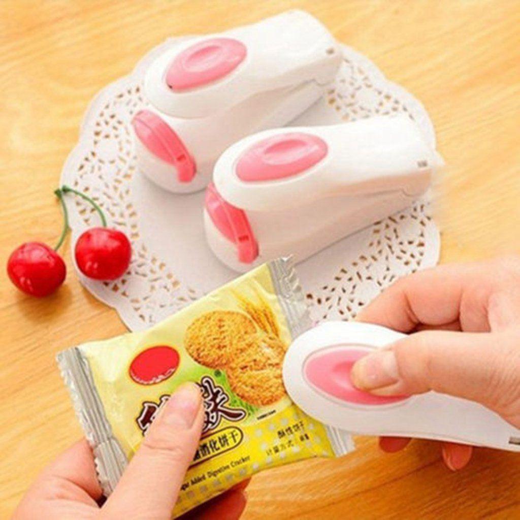 Magnetische Unterseite Tragbare Mini Heißsiegelmaschine Impulse Sealer Seal Verpackung Plastiktüten Vakuumnahrungsmitteleichmeister Mini Portable