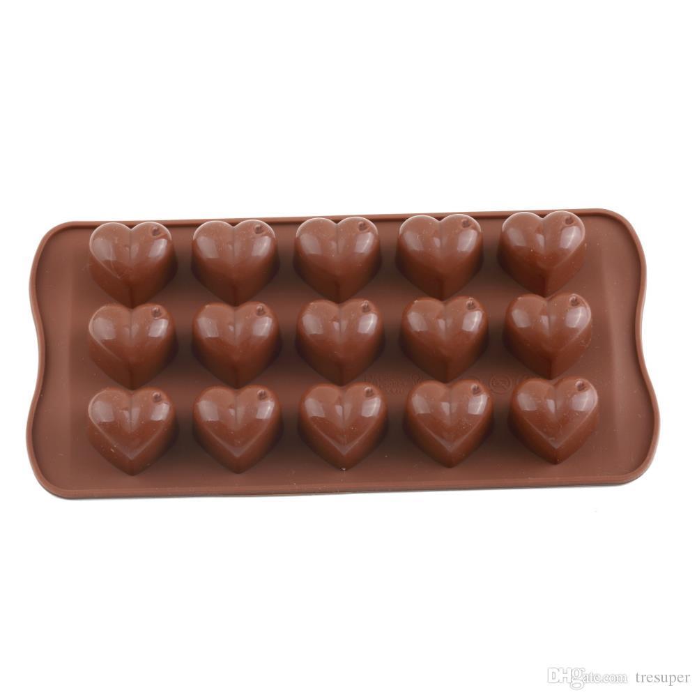 DIYの到着のアイスシリコーンキューブチョコレートフォンダンケーキゼリートレイパン愛のハートメーカーモールドモールドキッチンベーキングケーキツール