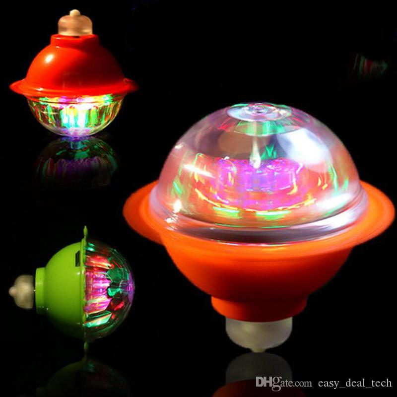 Kids Interesting Colorful Flash Light-emitting Vinyl Gyro Magic Friction Gyroscope Gifts for Boys Children LED Light Gyro Toys ZJ0399