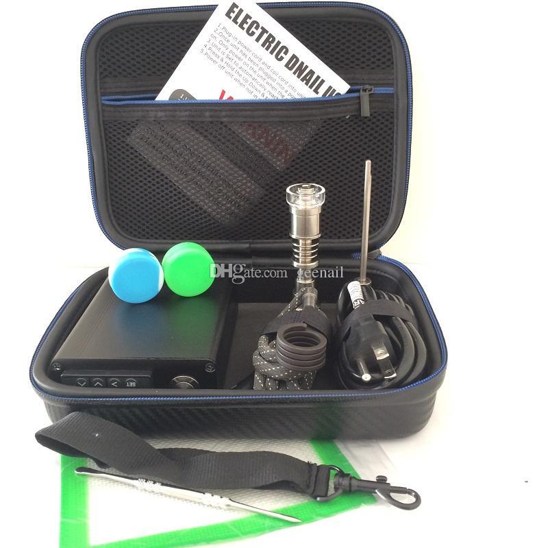 Smart E Dab Nail box Elettrico Dab Nail quarzo banger vetro PID digital kit dab tool cera Titanium 16 20mm 10mm coil heater