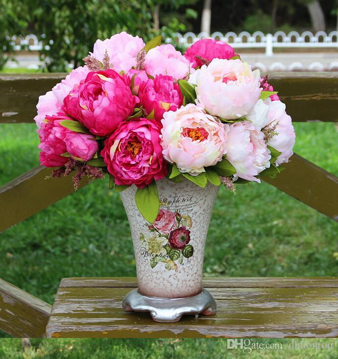 Buy cheap decorative flowers wreaths for big save peony bouquet buy cheap decorative flowers wreaths for big save peony bouquet artificial peony silk flowers fake leaf home and wedding party decoration 7 peony flowers mightylinksfo