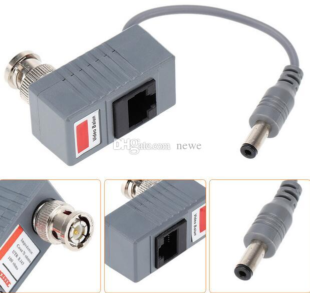 جديد وصول كاميرا cctv الملحقات الصوت والفيديو balun الإرسال والاستقبال bnc فيديو utp rj45 balun مع الصوت و السلطة على كابل cat5 / 5e / 6