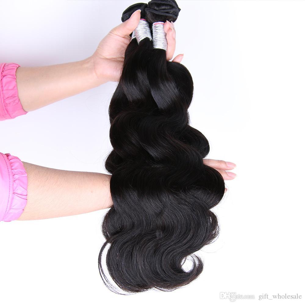 Tramas brasileñas del pelo humano de la Virgen sin procesar del pelo Extensiones camboyanas malasias peruanas malasias peruanas del cuerpo del pelo humano al por mayor