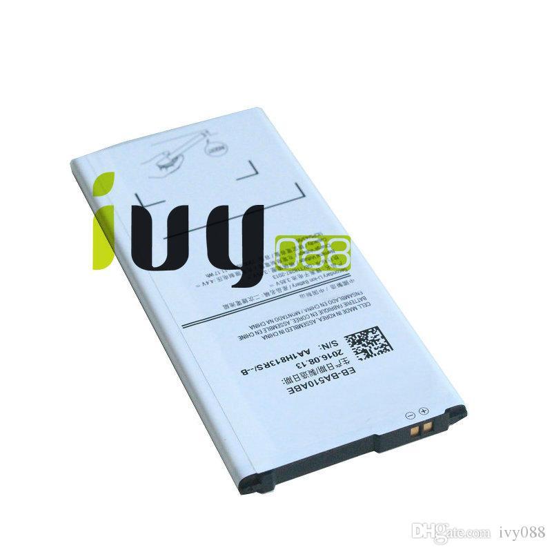 10 adet / grup 2900 mAh EB-BA510ABE Samsung 2016 Edition A510 Için Yedek Pil SM-A510F A5100 A5 A51 A510F Piller Piller Batterij