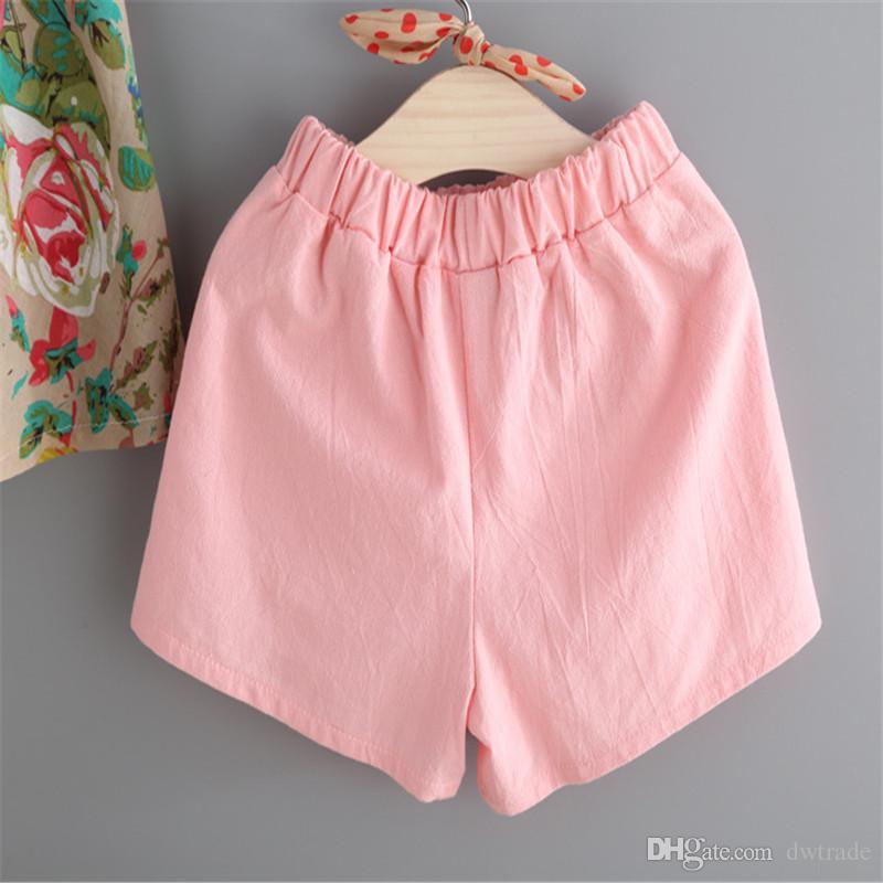 2017 roupas de bebê meninas tanque floral colete tops + shorts conjunto de roupas menina roupas crianças terno crianças verão boutique de roupas